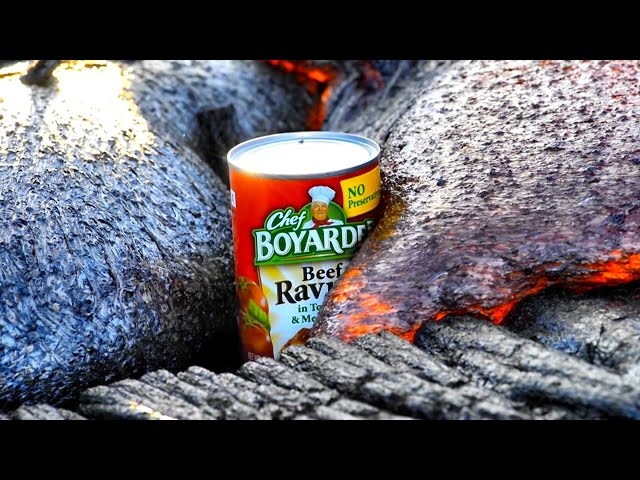 A Volcano Cooks a Can of Ravioli