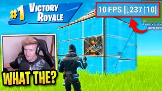 Tfue Edits & Builds So FAST The Game Lags in Fortnite...