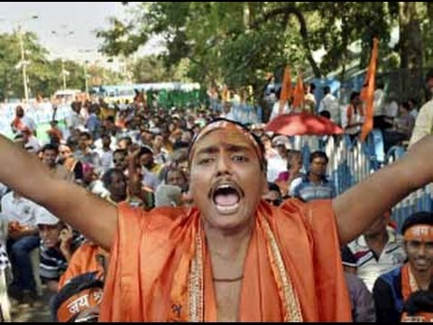 Watch: VHP organises Hanuman Jayanti rally in Kolkata's Espl
