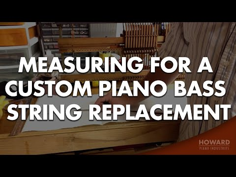 Replacement for Broken Piano Bass String Custom Piano Bass String