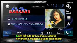 Terima Kasih Cinta / Yang Terindah - Evie Tamala KARAOKE