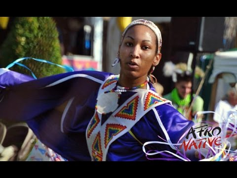 Afro Native Amber Saunders Fancy Shawl Dancer at Seminole Pow Wow 2015 (Black Indians)