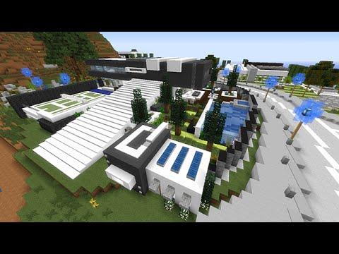Maison Minecraft Moderne. Modern Wooden House Grabcraft Your Number ...