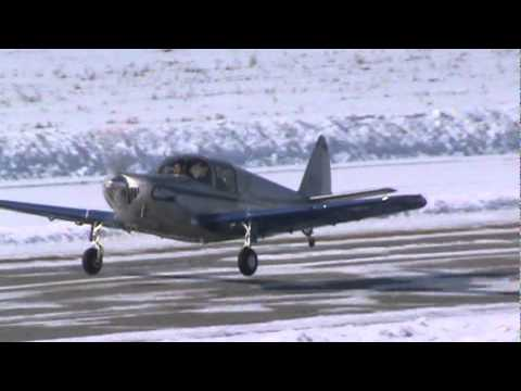 Globe Swift GC-1B Takeoff In Winter Conditions CSU3