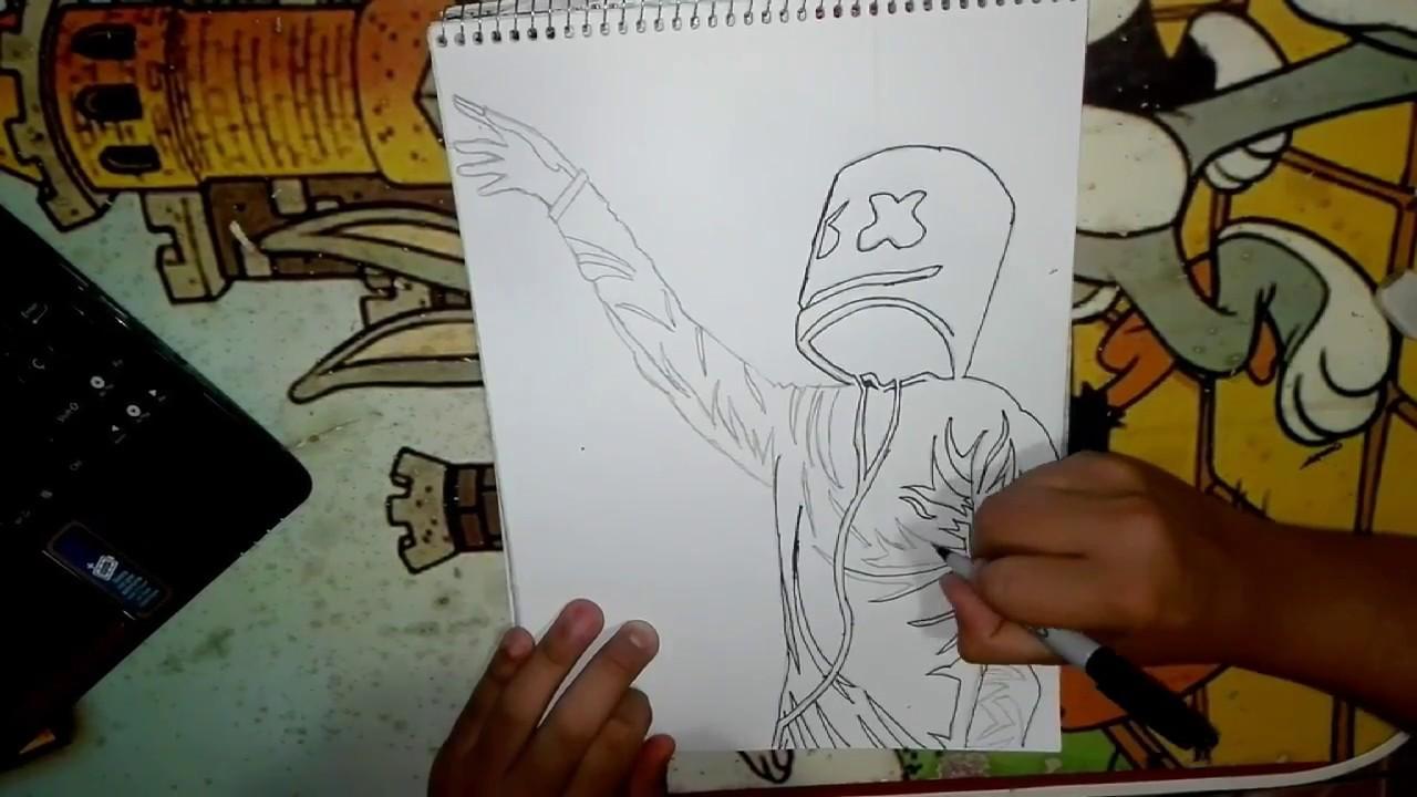 Dibujando A Marshmello Cesarpool Mg By Cesarpool Mg