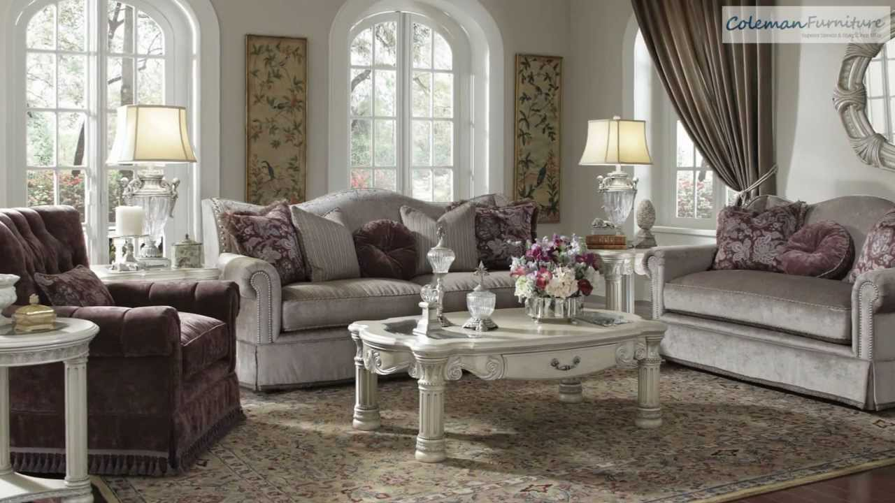 silver living room furniture. Monte Carlo II Silver Pearl Living Room Collection From Aico Furniture  YouTube