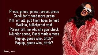Cardi B - Press (Lyrics) 🎵