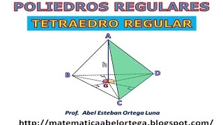 EL TETRAEDRO REGULAR