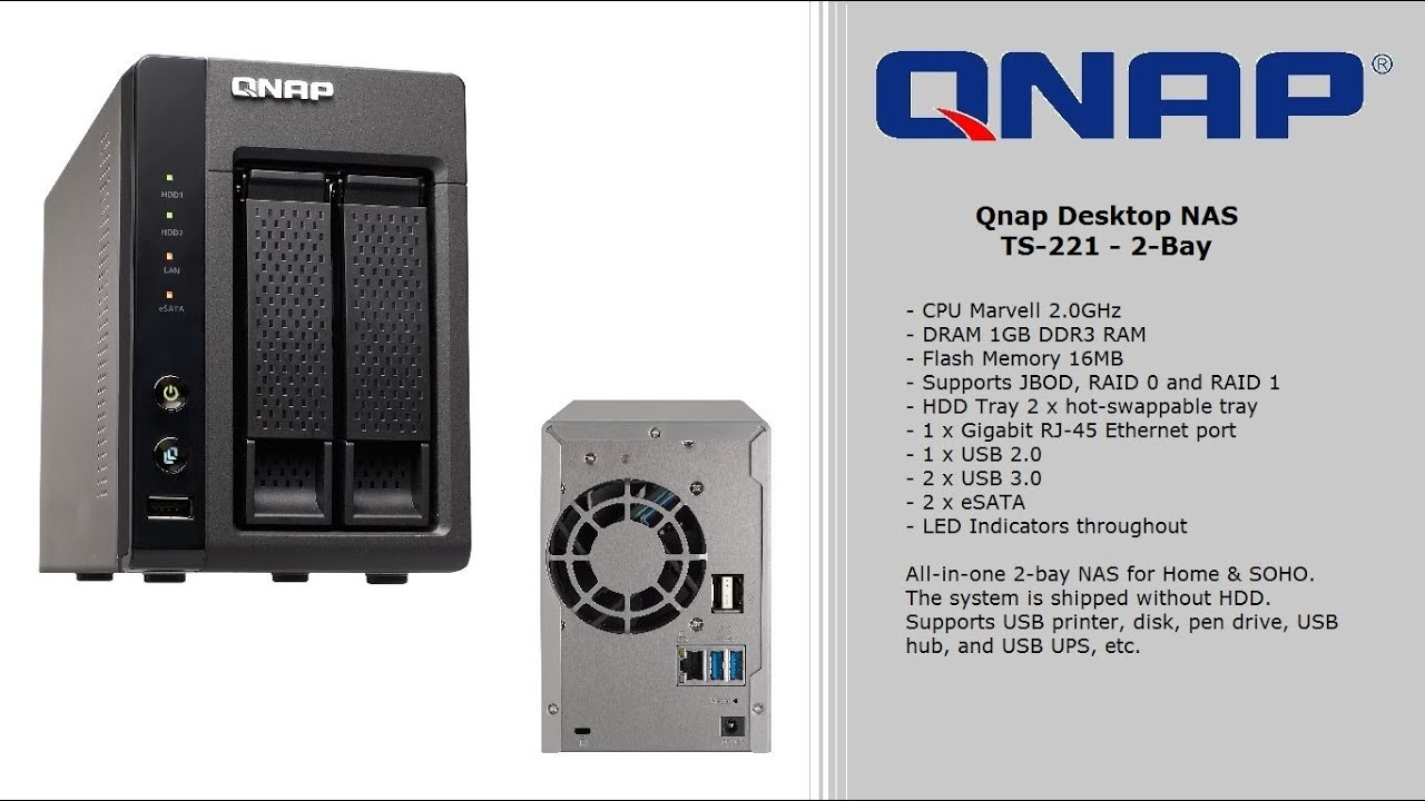 Case Overview - The QNAP TS-221 2-Bay NAS Solution