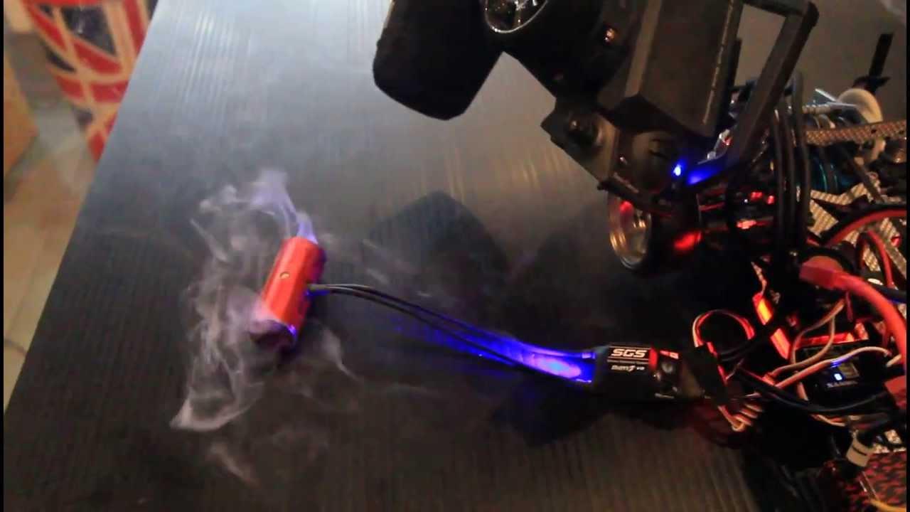Real Test Burn Effect V2 Over Smoke Rc Drift Part Youtube