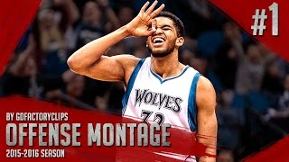 Karl-Anthony Towns ROY Offense Highlights Montage (Part 1) 2015/2016 - BEAST MODE!