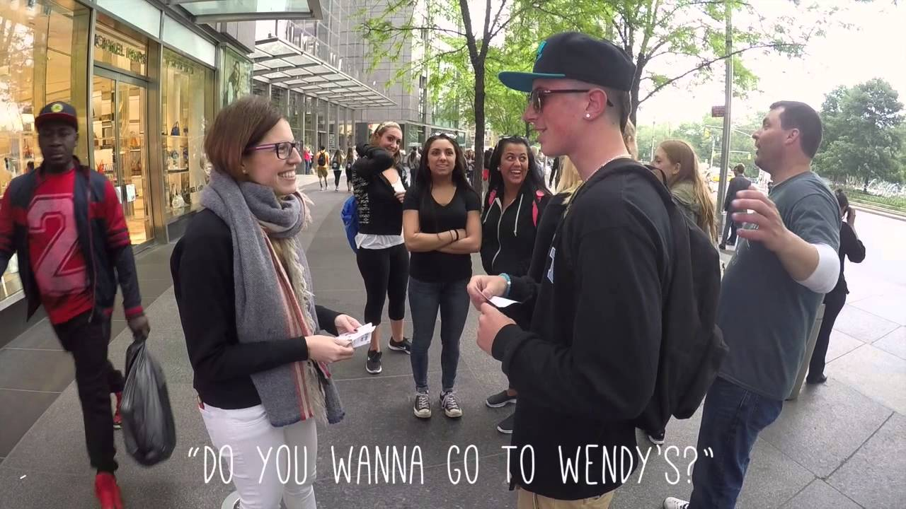 hand out flyers on the street day 42 youtube