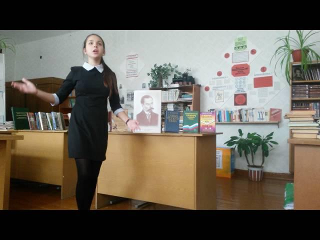 Изображение предпросмотра прочтения – СмирноваАнна читает произведение «Родной язык» В.Я.Брюсова