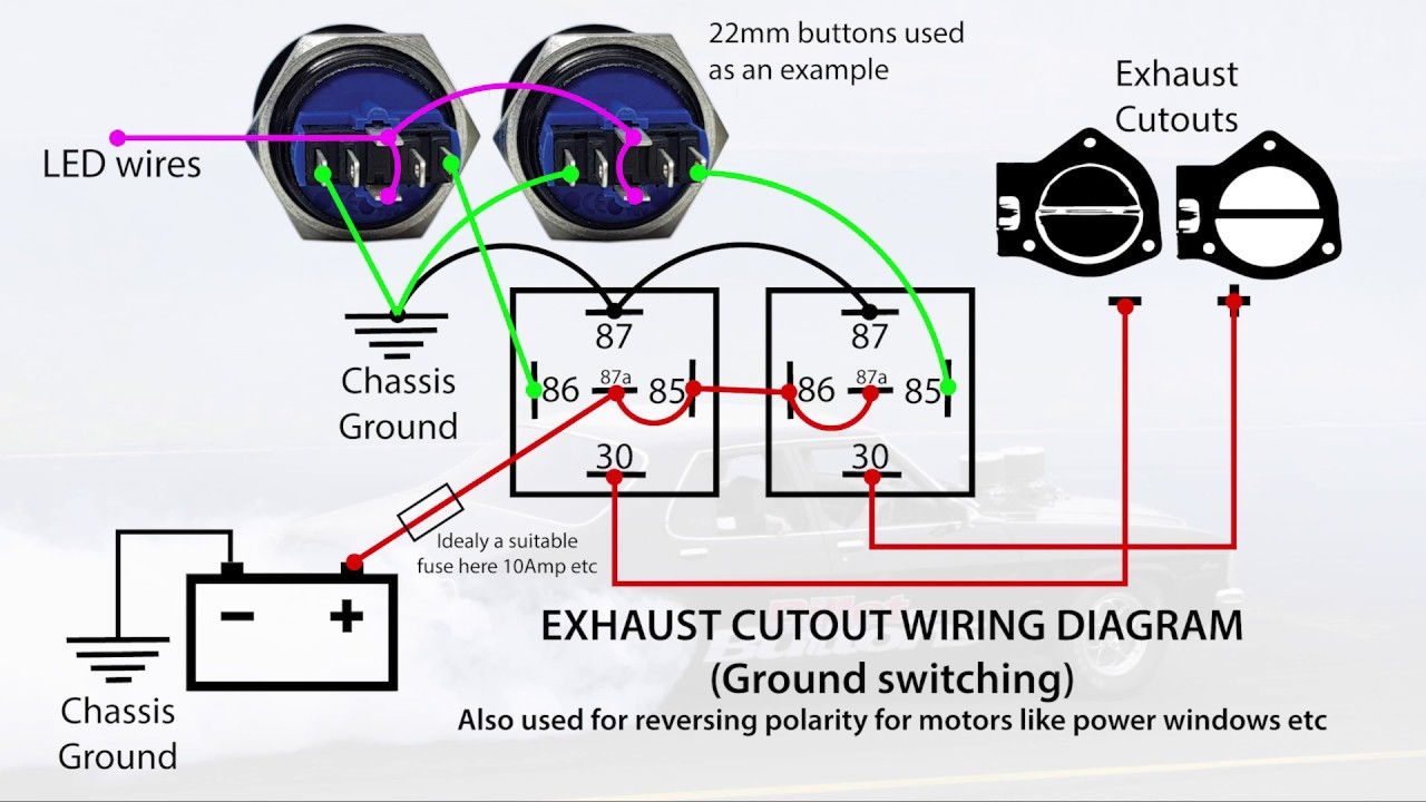 Exhaust Cutout    Power Windows Wiring Diagrams Reversing Polarity With Relays Using Push Buttons