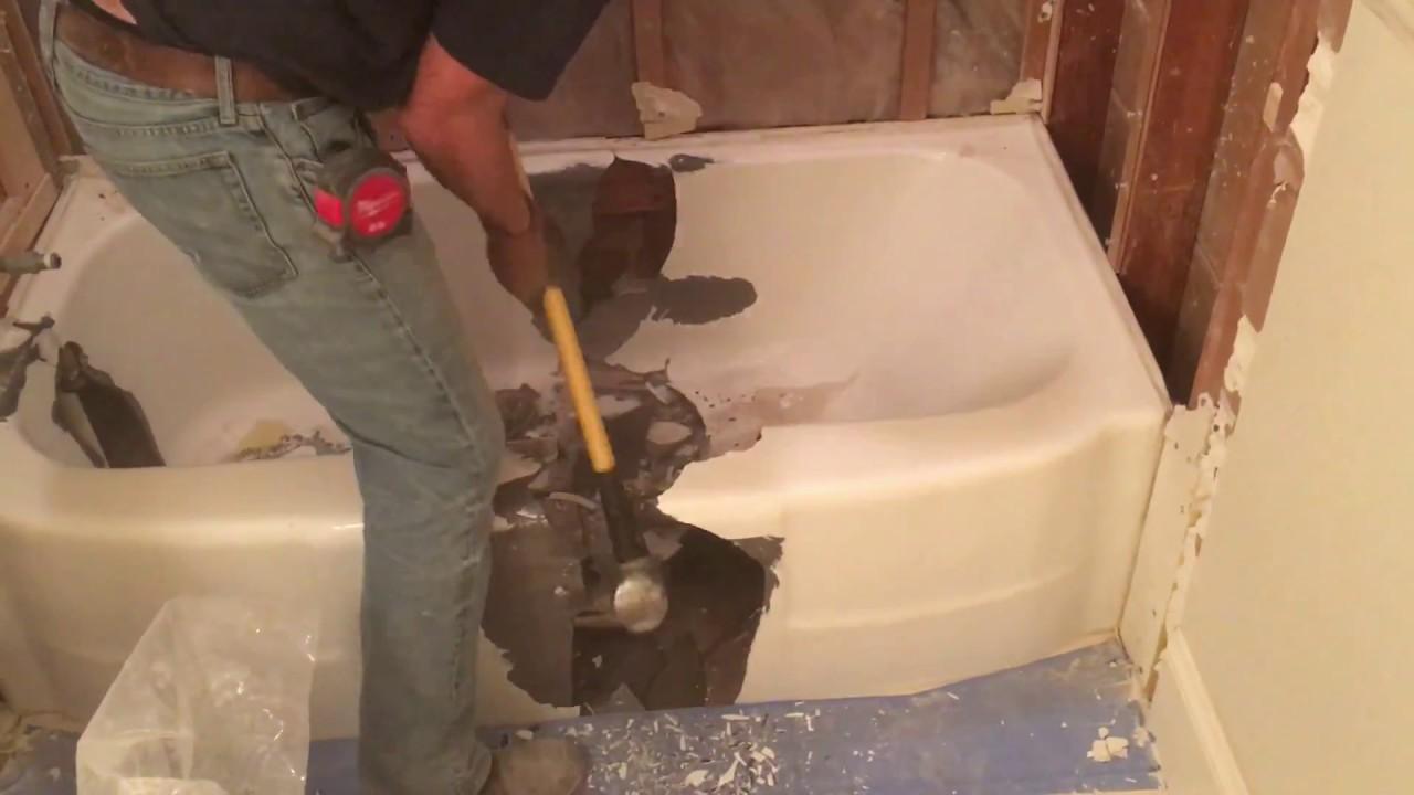 Tub To Shower Conversion Cast Iron Bathtub Cutting Test