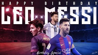 "Here is the birthday mashup of lionel andre messi 2020 luis andres (""leo"") an argentinian soccer player who plays forward for fc barcelon..."