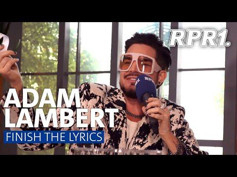 Adam Lambert - FINISH THE LYRICS | RPR1.Wohnzimmer