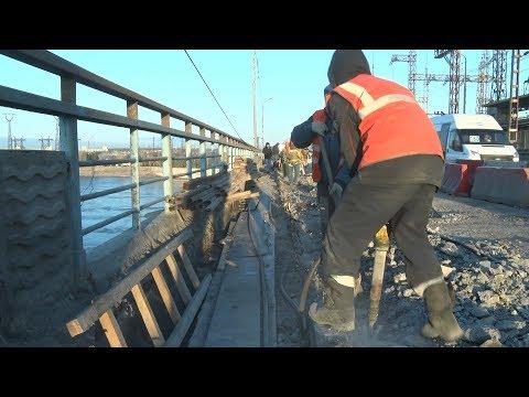 Продолжается ремонт дороги по Волжской ГЭС в Волгоградской области