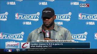 LeBron James postgame press conference | Cavs sweep Raptors | 2017 NBA Playoffs
