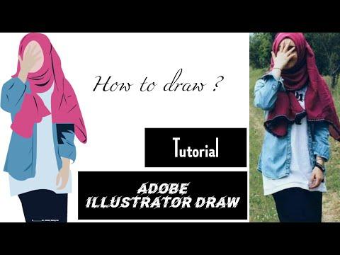 Adobe illustrator drawing | Vector art tutorial | Vector portrait | Adobe illustrator tutorials thumbnail