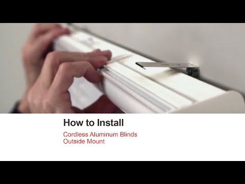 Bali Blinds | How to Install Cordless Aluminum Blinds - Outside Mount