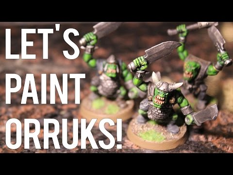 Let's Paint Orruks! (Warhammer Age of Sigmar Painting Session)