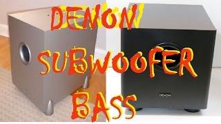 DOUBLE DENON SUBWOOFERS - Bass Test