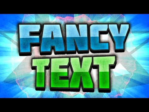 [TUTORIAL] How to make Fancy TEXT in Photoshop - Blending Options and Layer Styles