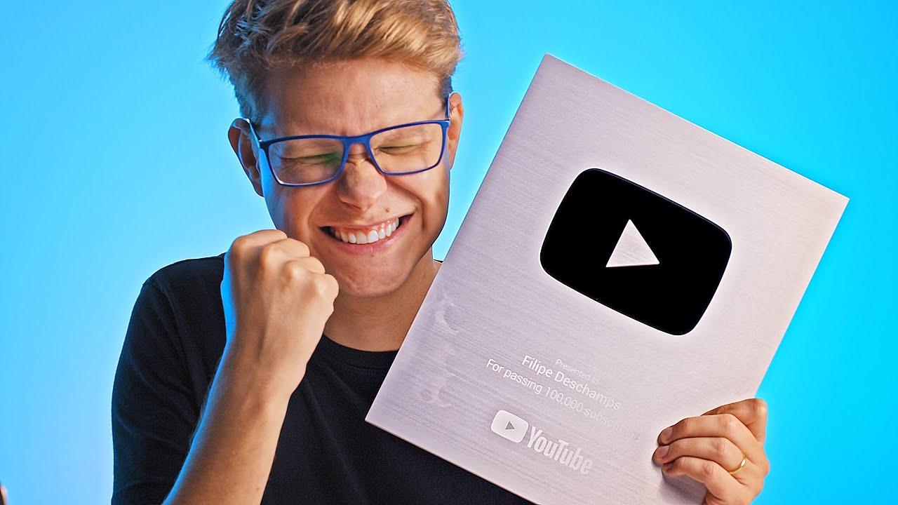 Chegou a Placa de 100k do YouTube ? (como foi o processo passo a passo!)