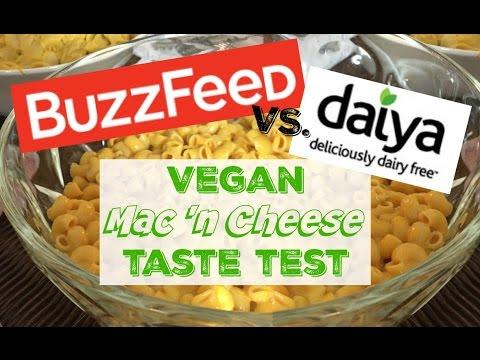 Buzzfeed VEGAN Mac 'n Cheese VS. Daiya TASTE TEST w/ Vegetaryn
