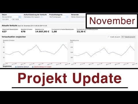 Projekt Update | Aktuelle Einnahmen und Sourcing in Europa | November 2016