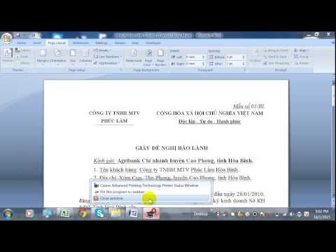 Hướng Dẫn In Trong Word Va Excel