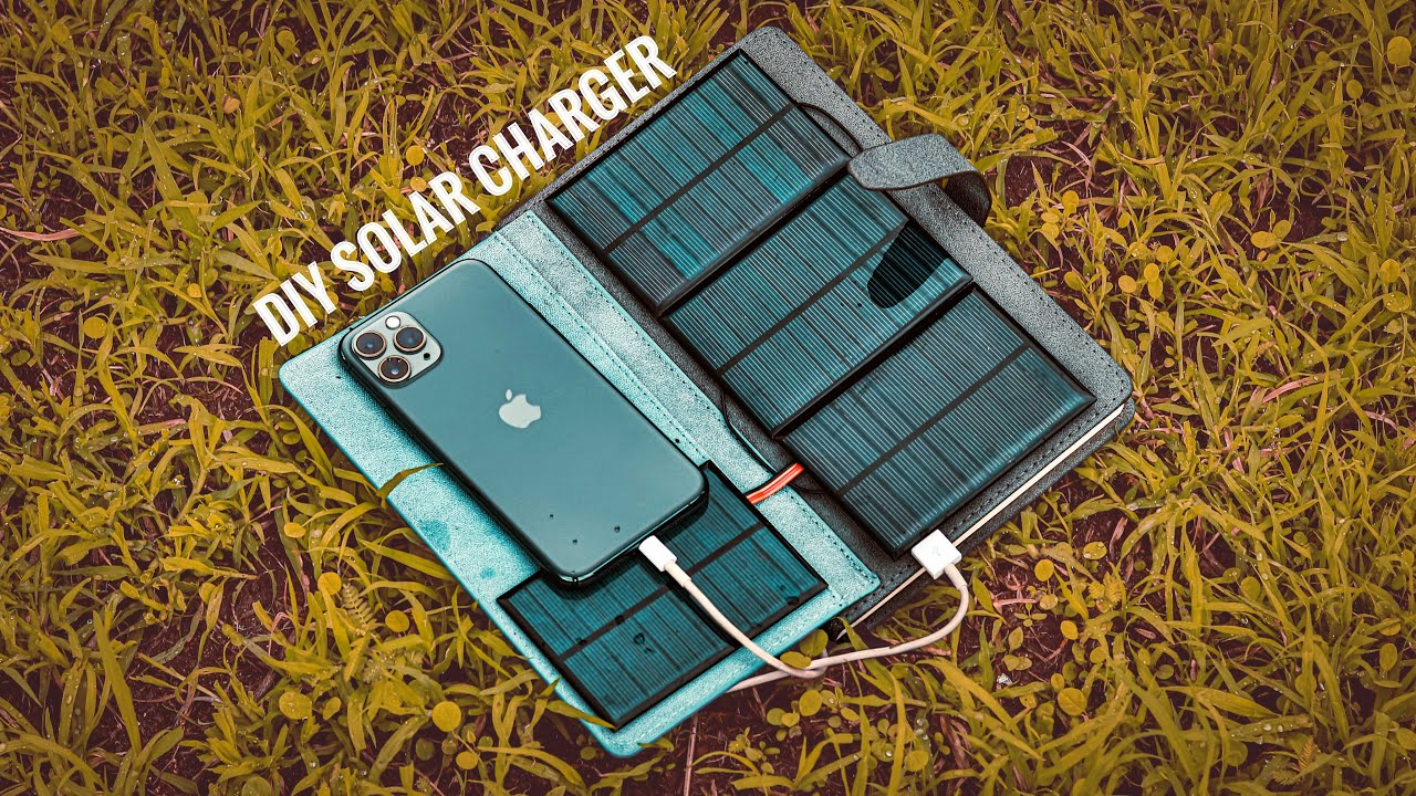 How to make a Foldable Solar Phone Charge -SIMPLE DIY