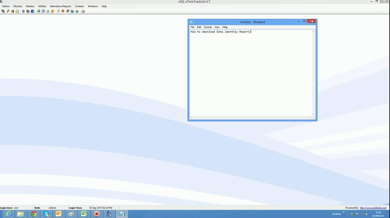 Essl How to download monthly report