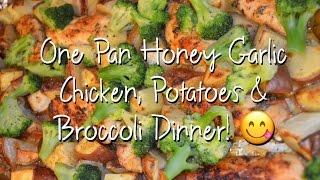 One Pan Honey Garlic Chicken, Potatoes & Broccoli Recipe Tutorial | The Urban Lady Bug