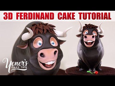 3D FERDINAND BULL CAKE Tutorial   Yeners Cake Tips with Serdar Yener from Yeners Way