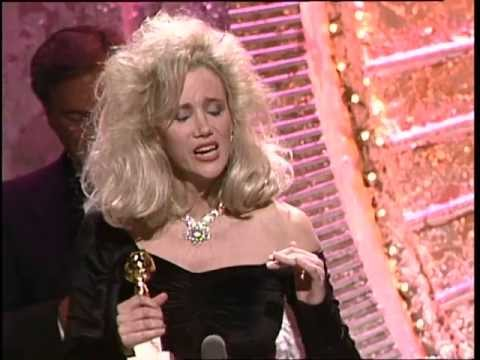 Sally Kirkland Wins Best Acress Motion Picture Drama  Golden Globes 1988