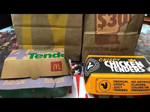 Burger King Crispy Chicken Tenders vs McDonald's Buttermilk Tenders