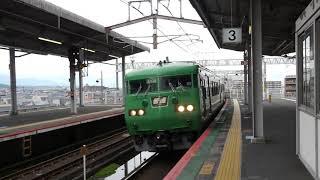 JR西日本 117系300番台 湖西線 京都行き  大津京駅  20191026