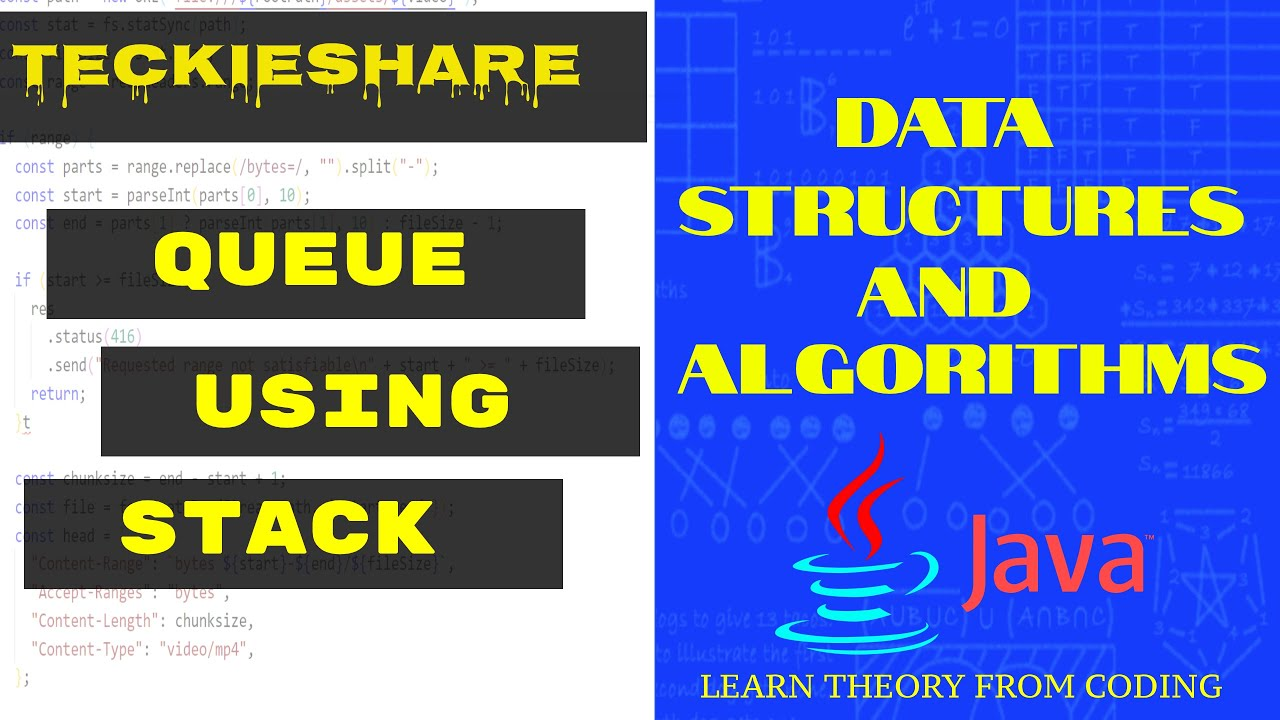 Data Structures and Algorithms | Queue Using Stack | Java