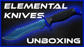Elemental Knives Unboxing - Blue Steel Bowie (CS:GO Knife in Real Life)