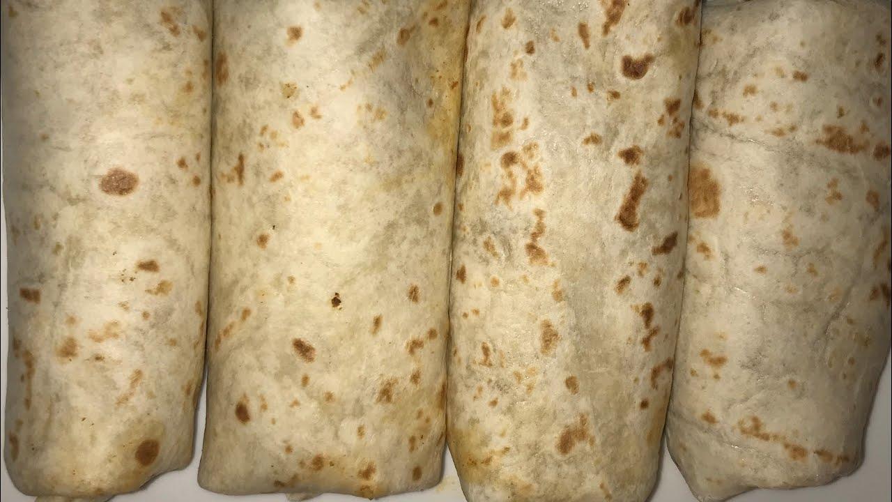 Burritos de carne molida y frijoles. - YouTube