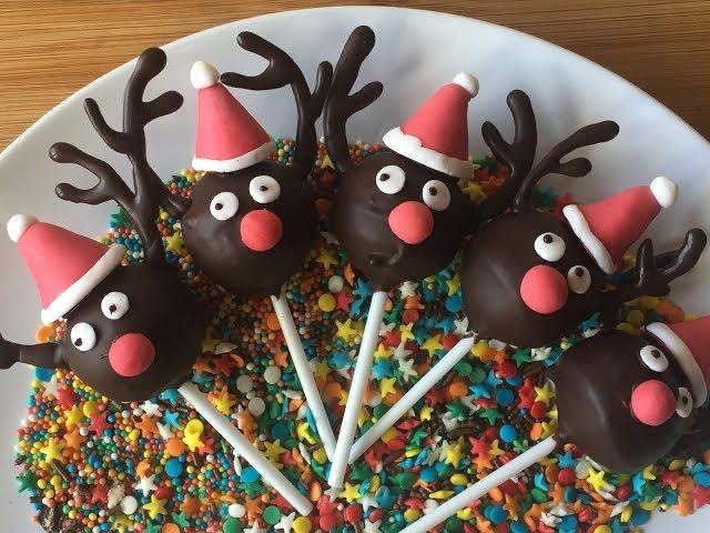 Postre Navideño Muy fácil - Cake pops Navidad