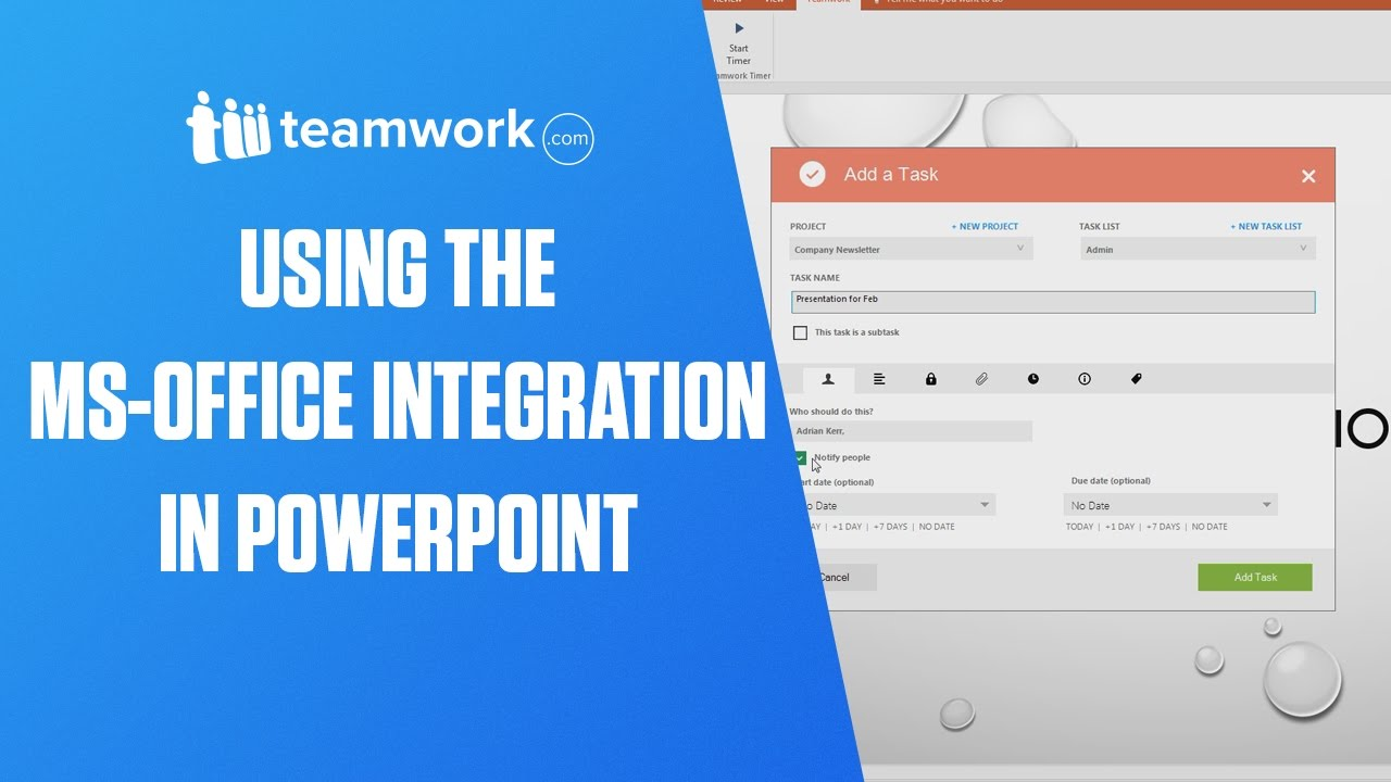 Teamwork Projects Using The Ms Office Integration In Powerpoint Newsletter