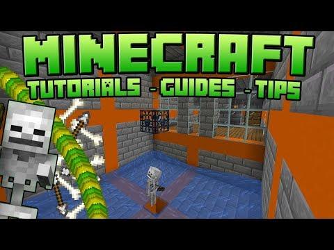 Minecraft Simple Skeleton Spawner Xp Farm Tutorial