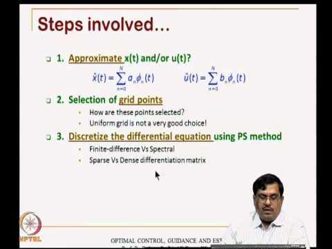 Mod-11 Lec-22 Transcription Method to Solve Optimal Control Problems