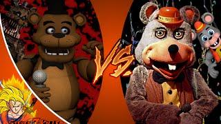 FREDDY FAZBEAR vs CHUCK E CHEESE! Cartoon Club de Combat de l'Épisode 22 de la RÉACTION!!!