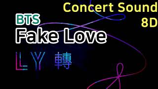 🔈CONCERT SOUND🔈 BTS - Fake Love 「8D AUDIO」USE HEADPHONES Resimi