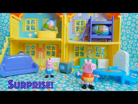 Peppa Pig Peek And Surprise Play House With SURPRISE EGGS