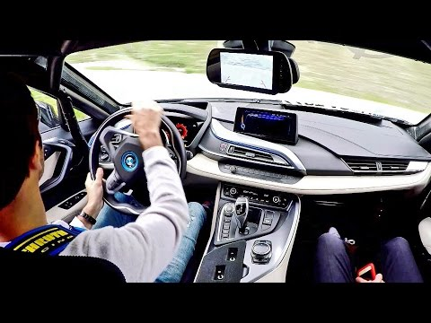BMW i8 Safety Car - Driving on Mountain Road